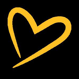 Herz modern in gelb
