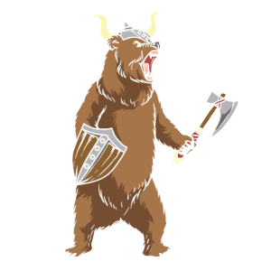 Viking Bear Warrior Polar Bear