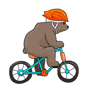 Bear On Bike Bicycle Cycling Bear