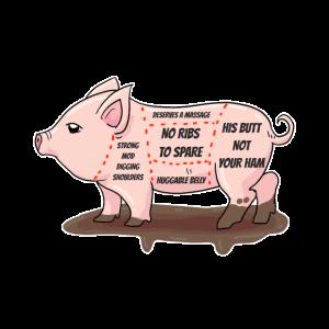 Friends Not Food - Vegan Pig Parts Anti Butcher