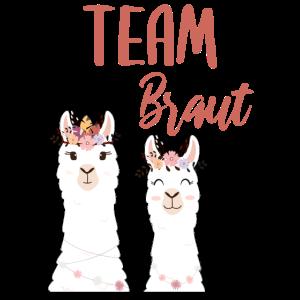 Team Braut Bride Alpaca Lama Alpaka JGA Party