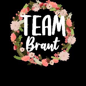 Team Braut Bride Blumenkranz Blumen Verlobung JGA