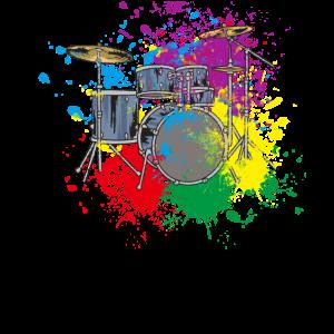 Splash Schlagzeug Musiker Geschenk für