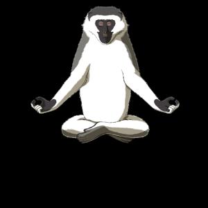 Meditation Affe