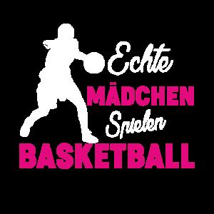 ECHTE MÄDCHEN SPIELEN BASKETBALL