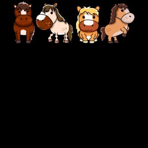 Pferde Team T-Shirt | Lustiges Reiter Mädchen Pony