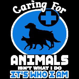 Tierarzt, der sich um Tiere kümmert Lustiger Tierarzt Tech