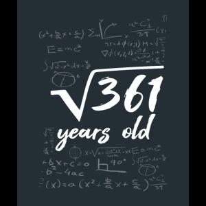 Mathe Formel Wurzel von 361 years old