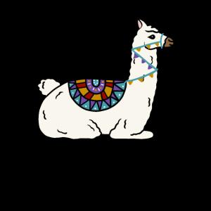 Peruanisches Lama-Alpaka-Tier