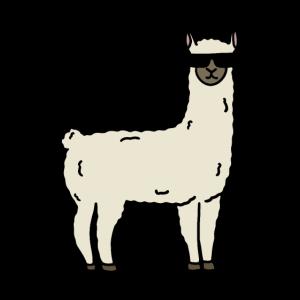 Lustiges kühles Lama-Alpaka-Tier