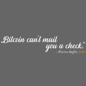 Bitcoin can't mail you a check