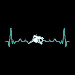 Schlägt Dein Herz für Hammerhaie? Heartbeat Design