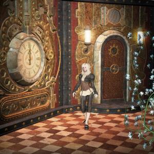 Wunderbares Steampunk-Mädchen