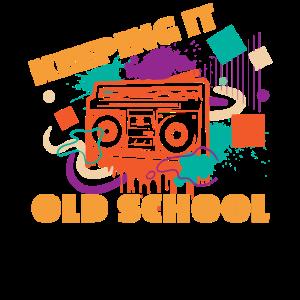 Keeping It Old School Retro Boombox Shirt