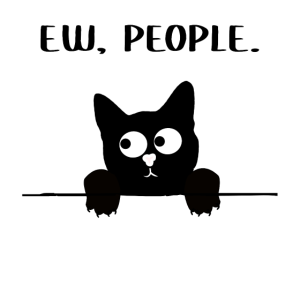 Ew People Katze Ich Hasse Menschen Witzig