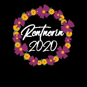 Rentnerin 2020 Blumen Blumenkranz Rente Frauen
