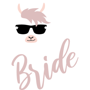Bride Lama JGA Hochzeit Team Gruppenshirt 2
