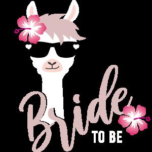 Bride Lama JGA Hochzeit Team Gruppenshirt 1