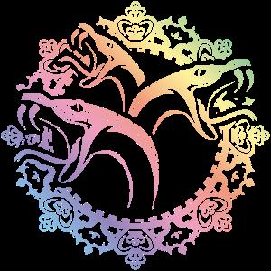 schlangen ornamente bunt