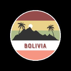 bolivien Retro Land und Länder