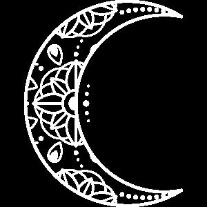 Crescent Moon Boho Minimalistische Illustration