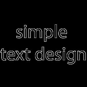 Einfaches Textdesign