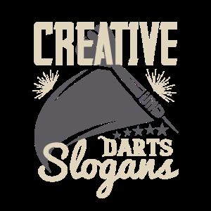 Kreative Dart-Slogans