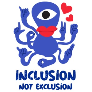 Mascarilla Inclusion Not Exclusion | Amores Alien