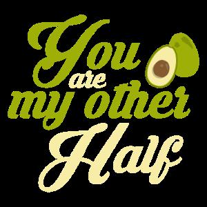 Avocado Pärchen Andere Hälfte