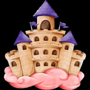Märchenschloss Wunderbar rosa Wolke