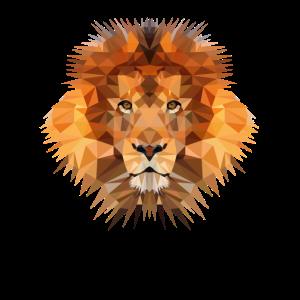 Löwe Löwenkopf Polygon große Katze Kunstwerk