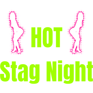 Hot Stag Night - neonfarben