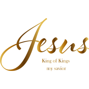 Jesus Schriftzug gold King of Kings, my savior