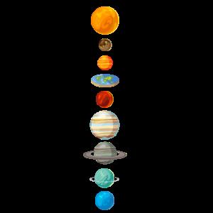 Flat Earth Sonnensystem Geschenk