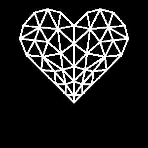 Polygon Herz weiss