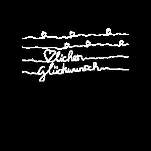 Herzlichen Glückwunsch Handschrift shirt geschenk