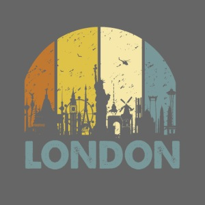 Vintage London Souvenir - Retro Skyline London