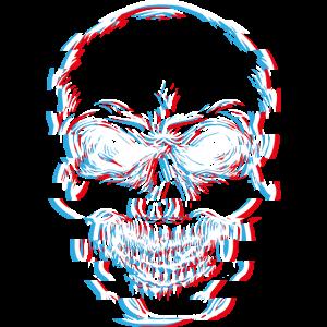 Totenkopf, skull, glitch