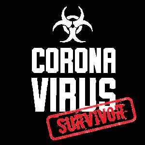 Grippe Virus COVID-19 Survivor Überlebender fun