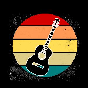 Gitarre Spielen Retro Vintage Design Geschenkidee