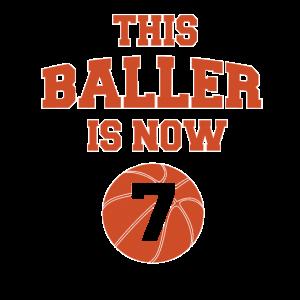 Dieser Baller ist jetzt 7 - Kinder 7. Geburtstag