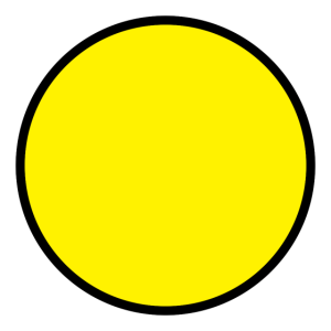 yellow circle with black outline