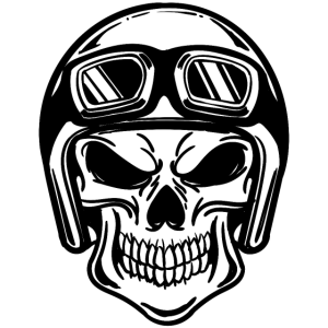 Motorradfahrer Totenkopf Helm Motorräder Biker