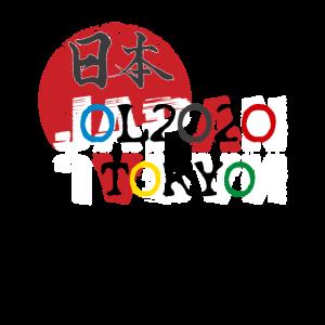 Tokio ol 2020 Farbkreise Japan Fan
