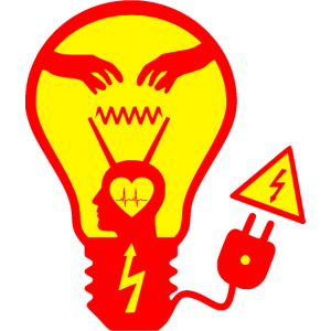 Glühbirne Rot/Gelb