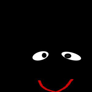 Strichgesicht Gesicht aus Strichen gemalt