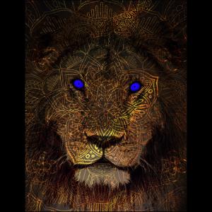 mythischer Löwe