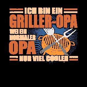 Cooler Griller Opa Lustiger Opi Grillen Spruch