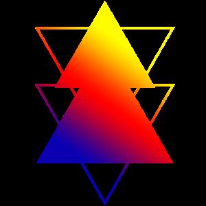 80er Jahre Farbdreiecke