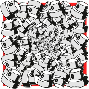 graffiti fap caps infinity square print sp tryk 3